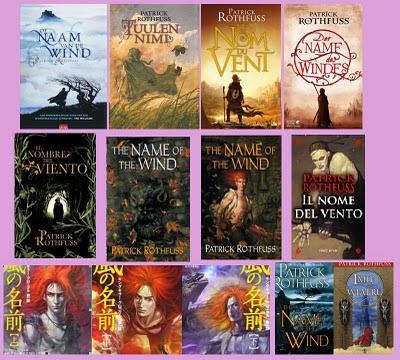 portadas de la novela de fantasía El nombre del viento, de Patrick Rothfuss