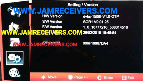 1506T/F SGR1 NEW POWERVU KEYS SOFTWARE 2019 - Jam Receivers