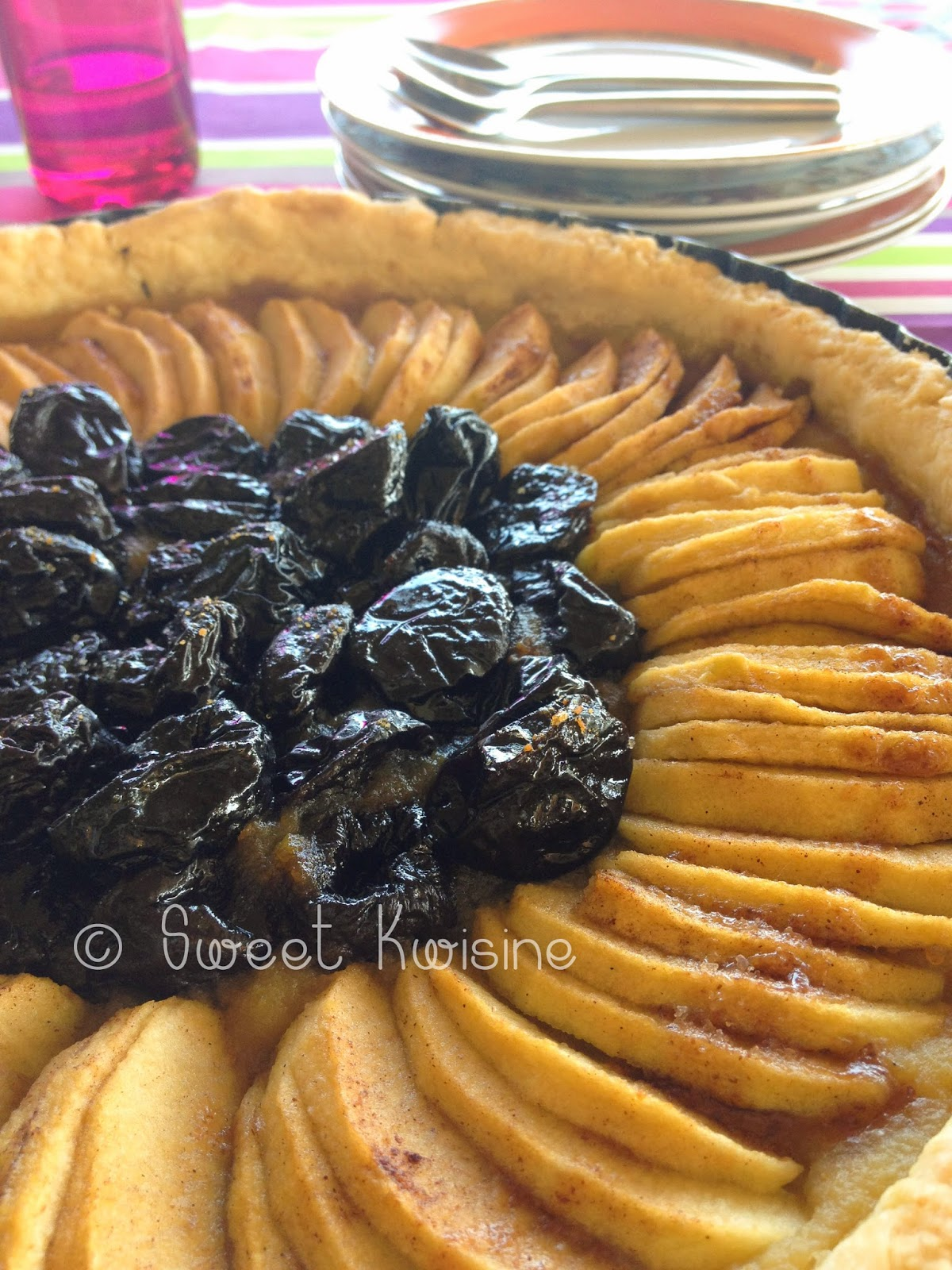 Sweet Kwisine, pommes, tarte aux pommes, pruneaux, compote de pommes, rapadura