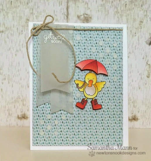 Get Well Duck with Umbrella | Card by Samantha Mann | Spring Showers stamp set by Newton's Nook Designs