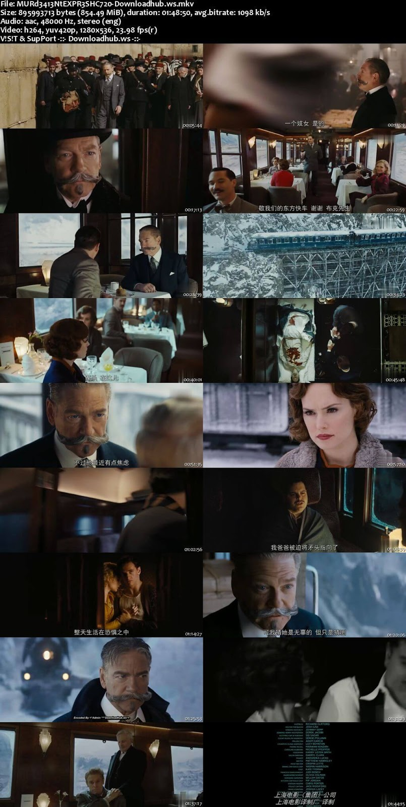 Murder on the Orient Express 2017 English 720p HC HDRip 850MB