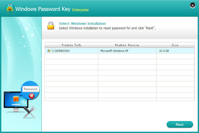 windows password key