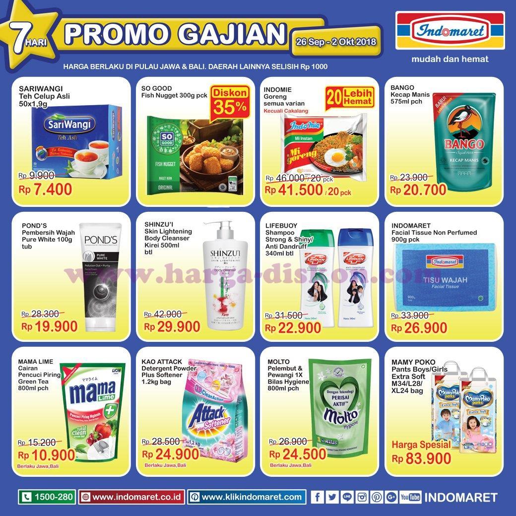 Katalog Indomaret Promo Gajian 26 September – 2 Oktober 2018