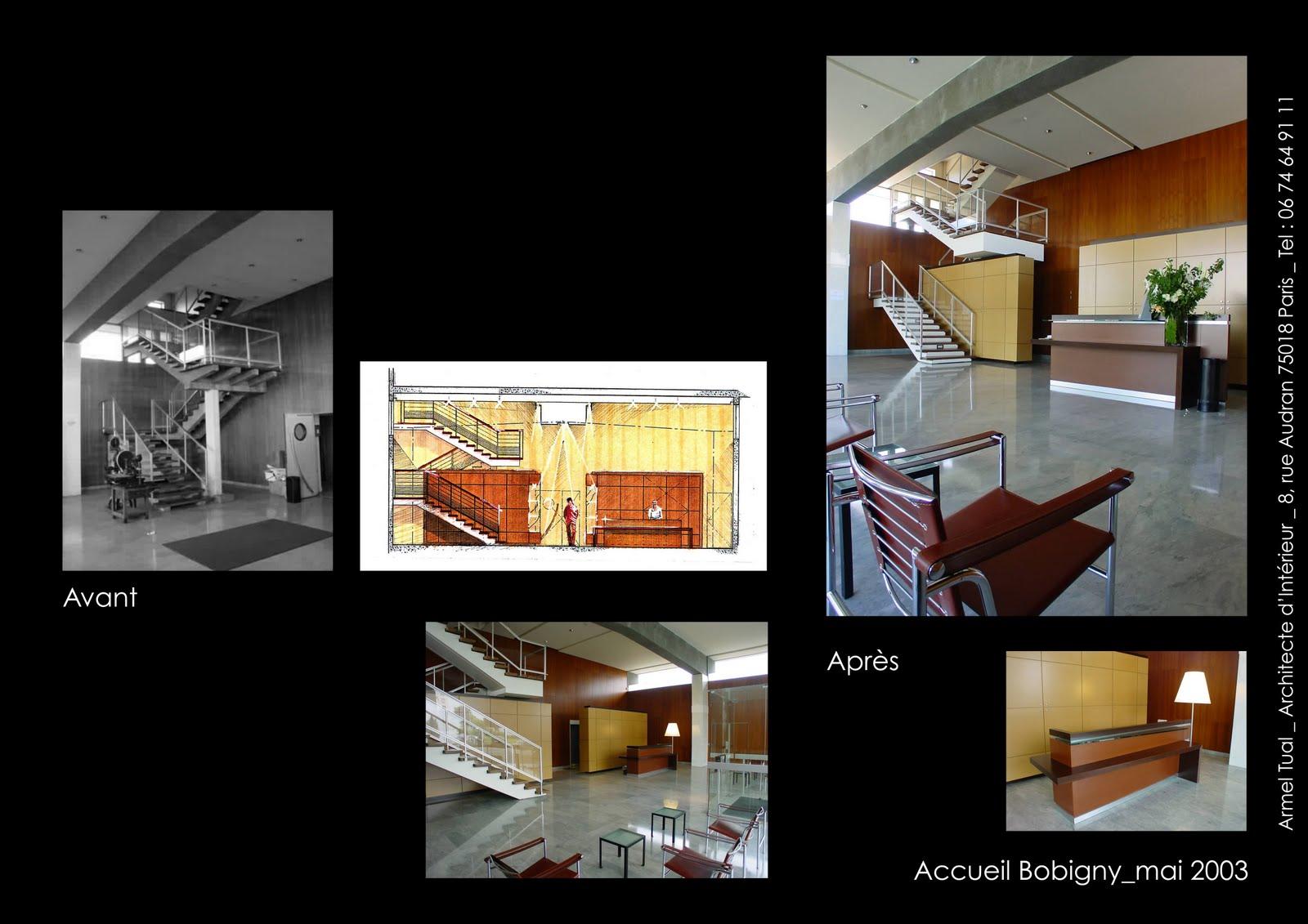 Architecte D Intérieur Paris 8 armel tual - architecte d'intérieur cfai: hall d'accueil