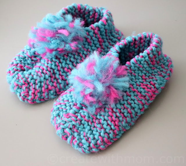 knit slipper pattern