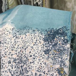 Nani Iro Textiles 2018 double gauze fabric floral metallic