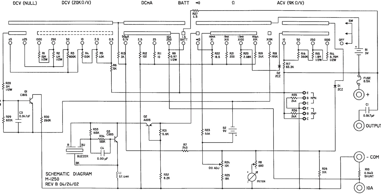schematic diagrams metrawatt unigor 4s analog multimeter and cast rh schematicscom blogspot com sanwa analog multimeter circuit diagram analog multimeter circuit diagram+explanation pdf