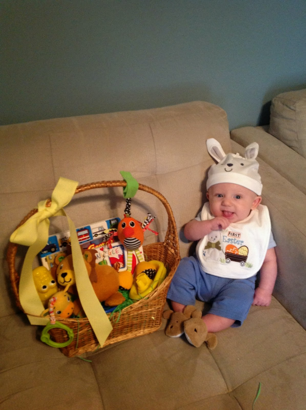 Easter basket ideas for babies and toddlers 95 ideas whats inside my babys easter basket negle Image collections