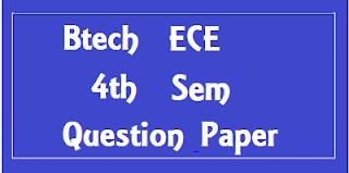 Mdu BTech ECE 4th Sem Question Papers 2018