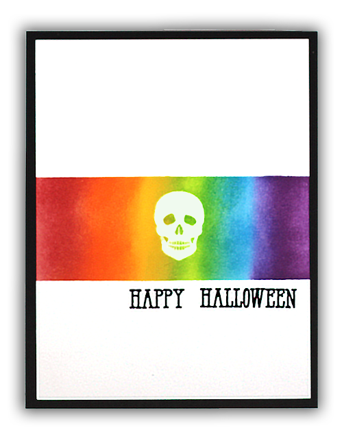 Halloween Mirror Hero Arts card by Understand Blue
