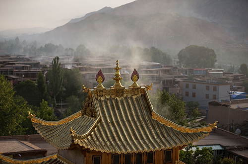 Gomar Monastery, Tongren, Qinghai, China.