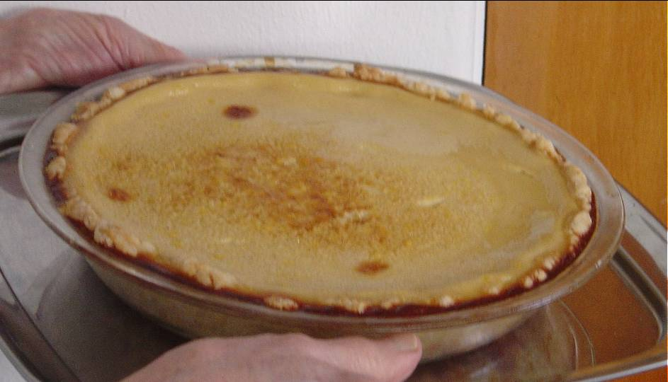 Egg Custard Pie Image