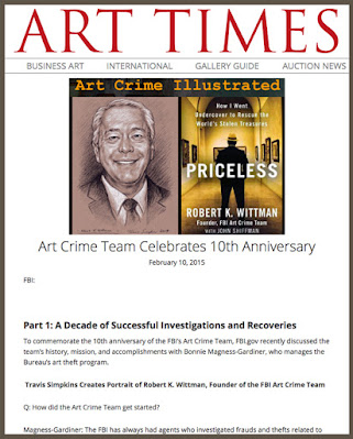 Art Times: FBI Art Crime Team. Robert K. Wittman. Portrait by Travis Simpkins