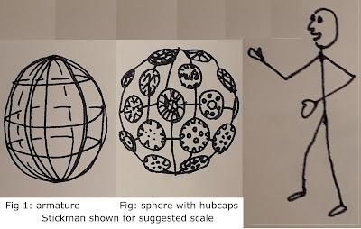 Carmageddon hubcap sculpture