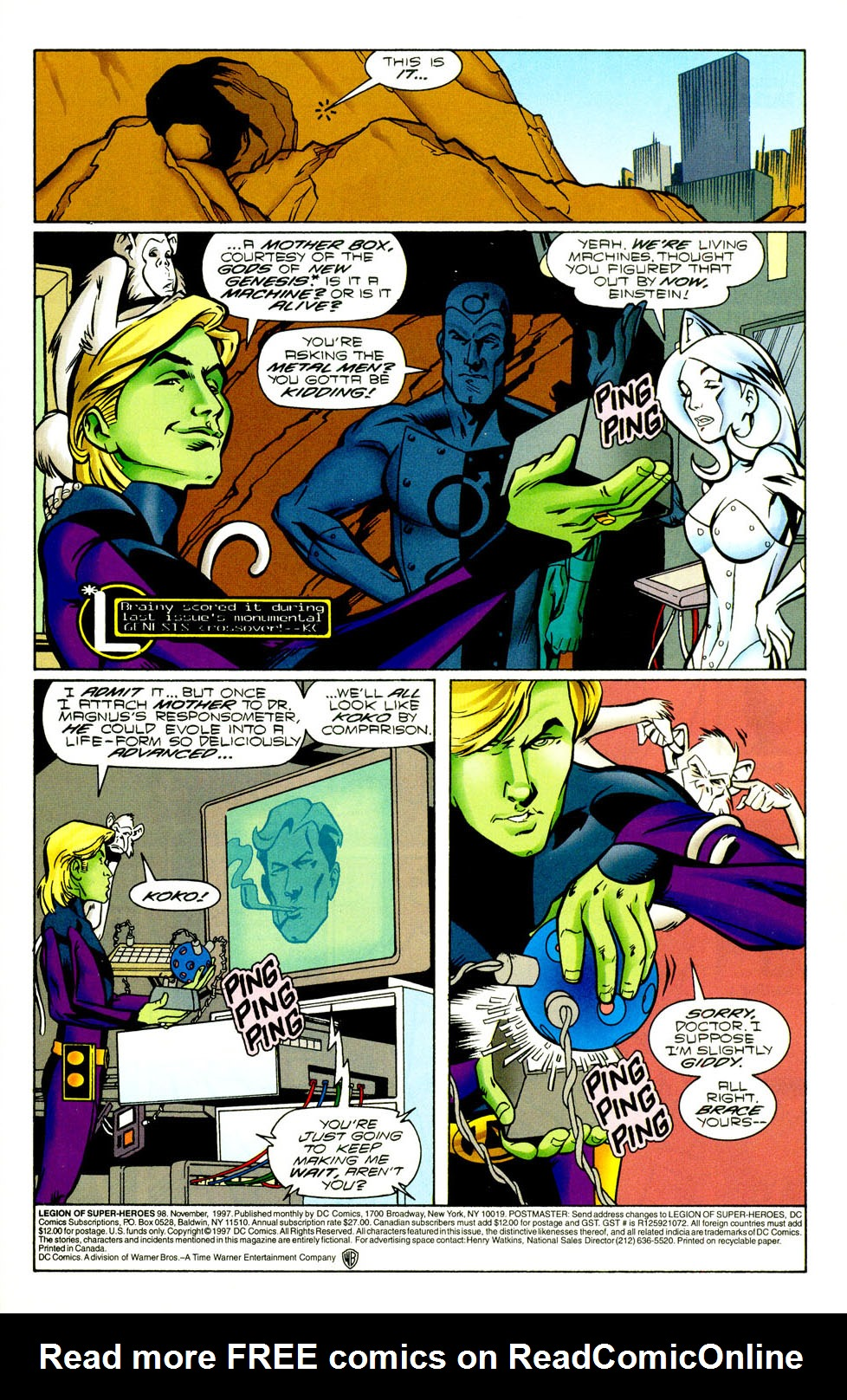 Legion of Super-Heroes (1989) 98 Page 1