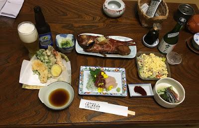 矢指ヶ浦温泉館 金目鯛コースの夕食