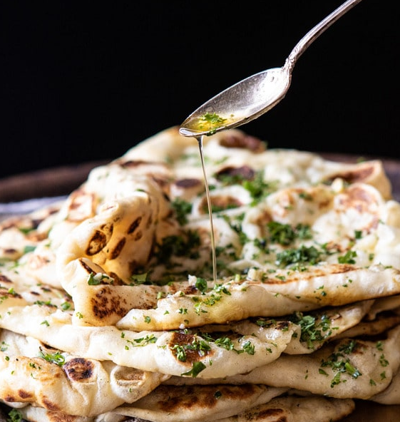 herbed garlic butter naan