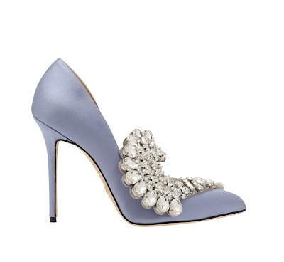 Paula Cadematori Crystal Embellished Satin Pumps