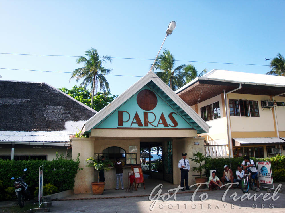 Front Of Paras Beach Resort