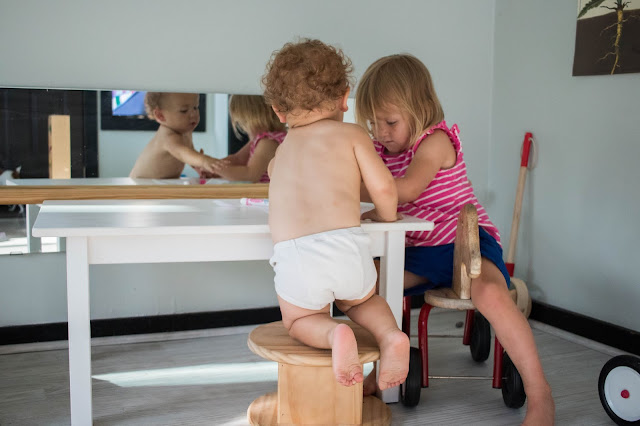 Starting the Montessori toilet learning, Montessori's answer to potty training, process with our toddler