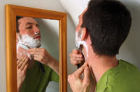 Shaving can cause itchy chin