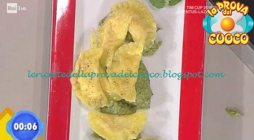 Mezzelune con fior di latte e praga al pesto ricetta Piparo da Prova del Cuoco