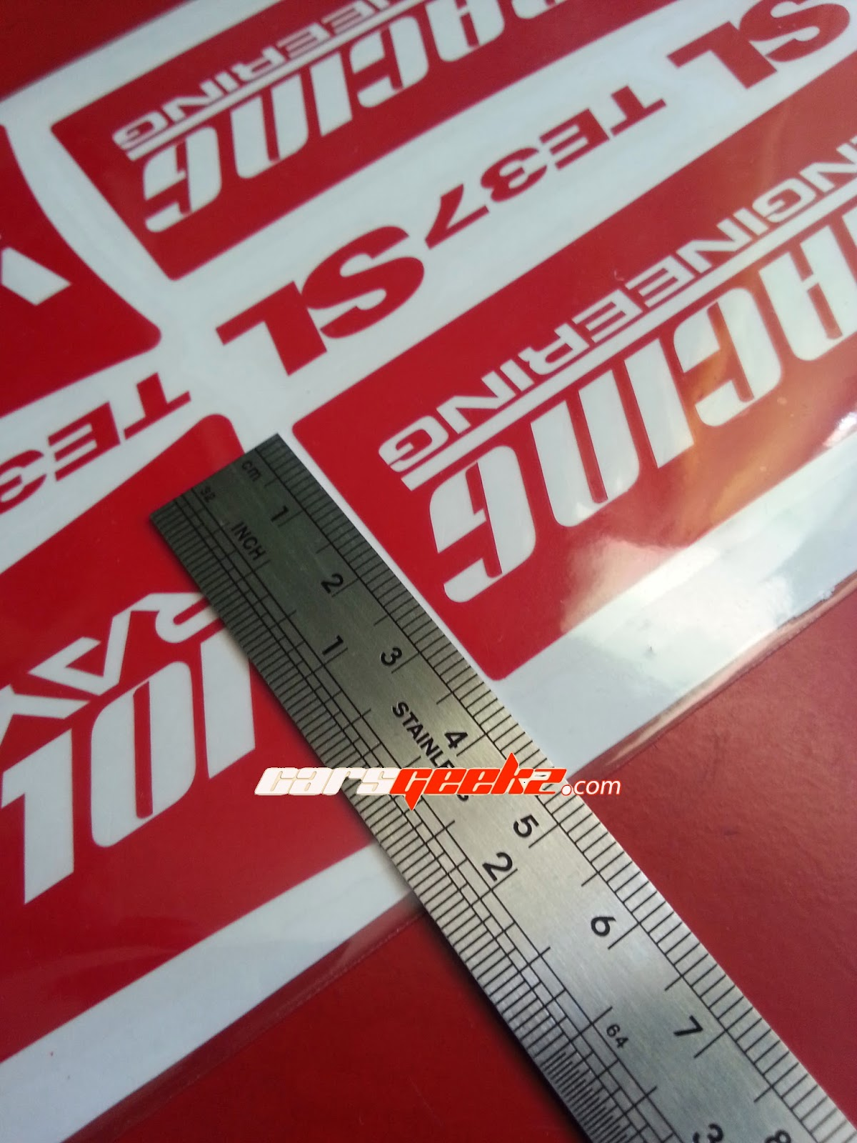 TE37 SL Sticker - Red Colour Sticker decal