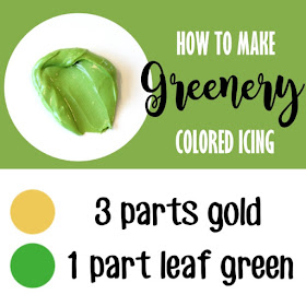 How to make greenery colored frosting -- cookie decorating