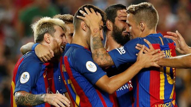Barca Juara Piala Super Spanyol dengan Agregat 5-0 atas Sevilla