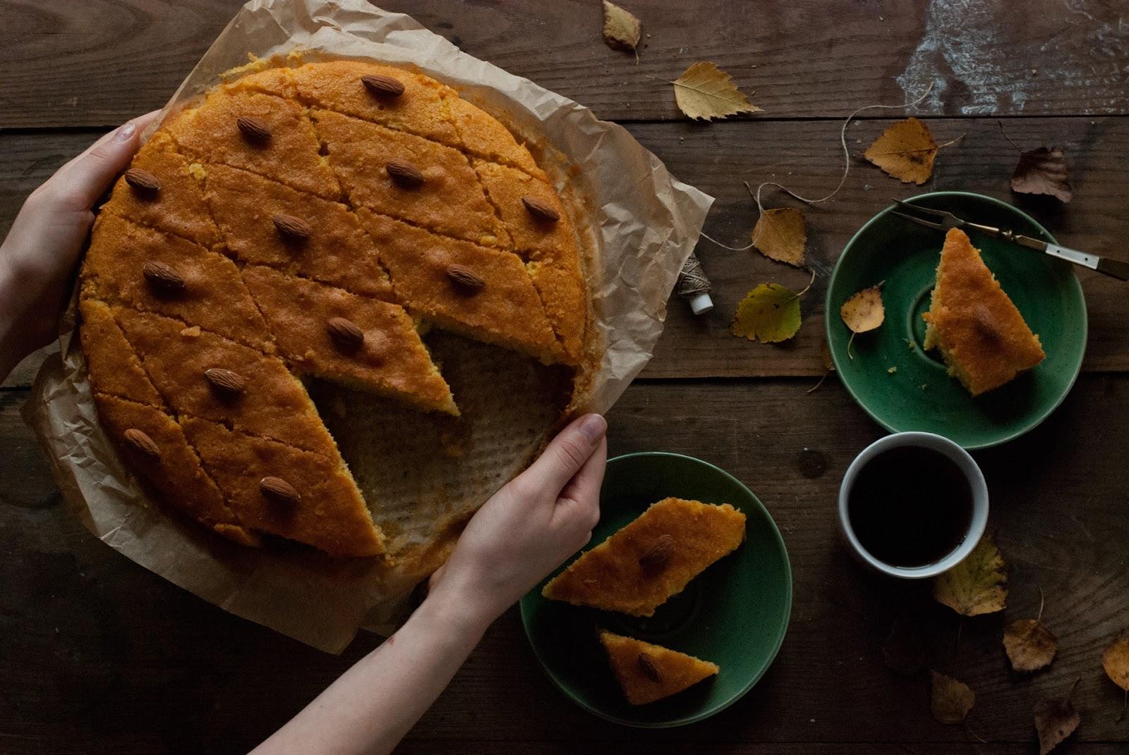 Tureckie ciasto Revani bez glutenu