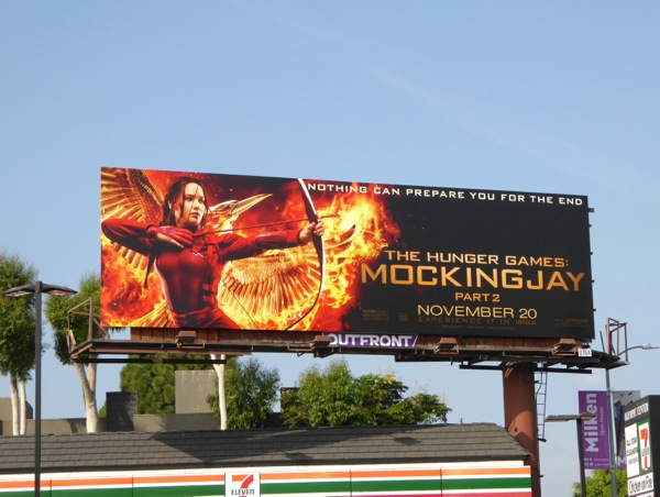 Hunger Games Mockingjay 2 film billboard