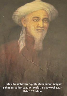 "Datuk kalambayan ""Syeikh Muhammad Arsyad Ulama' Kalimantan"""