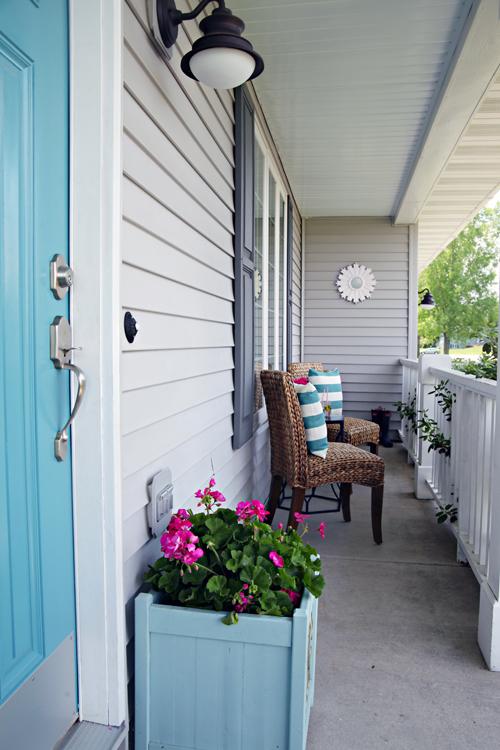 Behr blue door