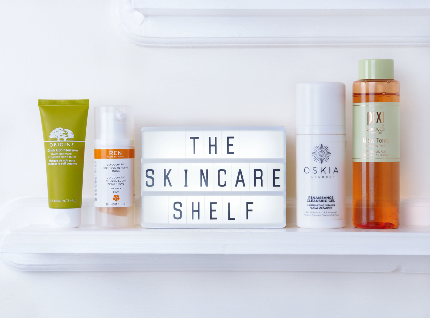 Winter Skincare Shelf