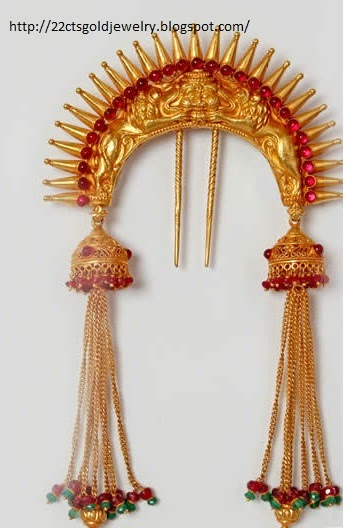 Gold Jewellery Designs Gold Jada Choti Ornament