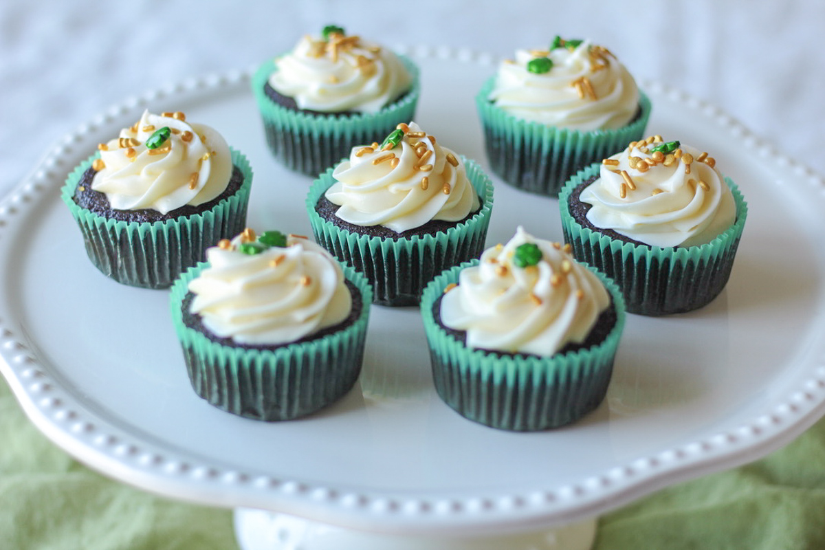 Guinness Chocolate Cupcakes with Cream Cheese Frosting