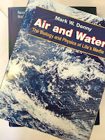 Air and Water, by Mark Denny, superimposed on Intermediate Physics for Medicine and Biology.