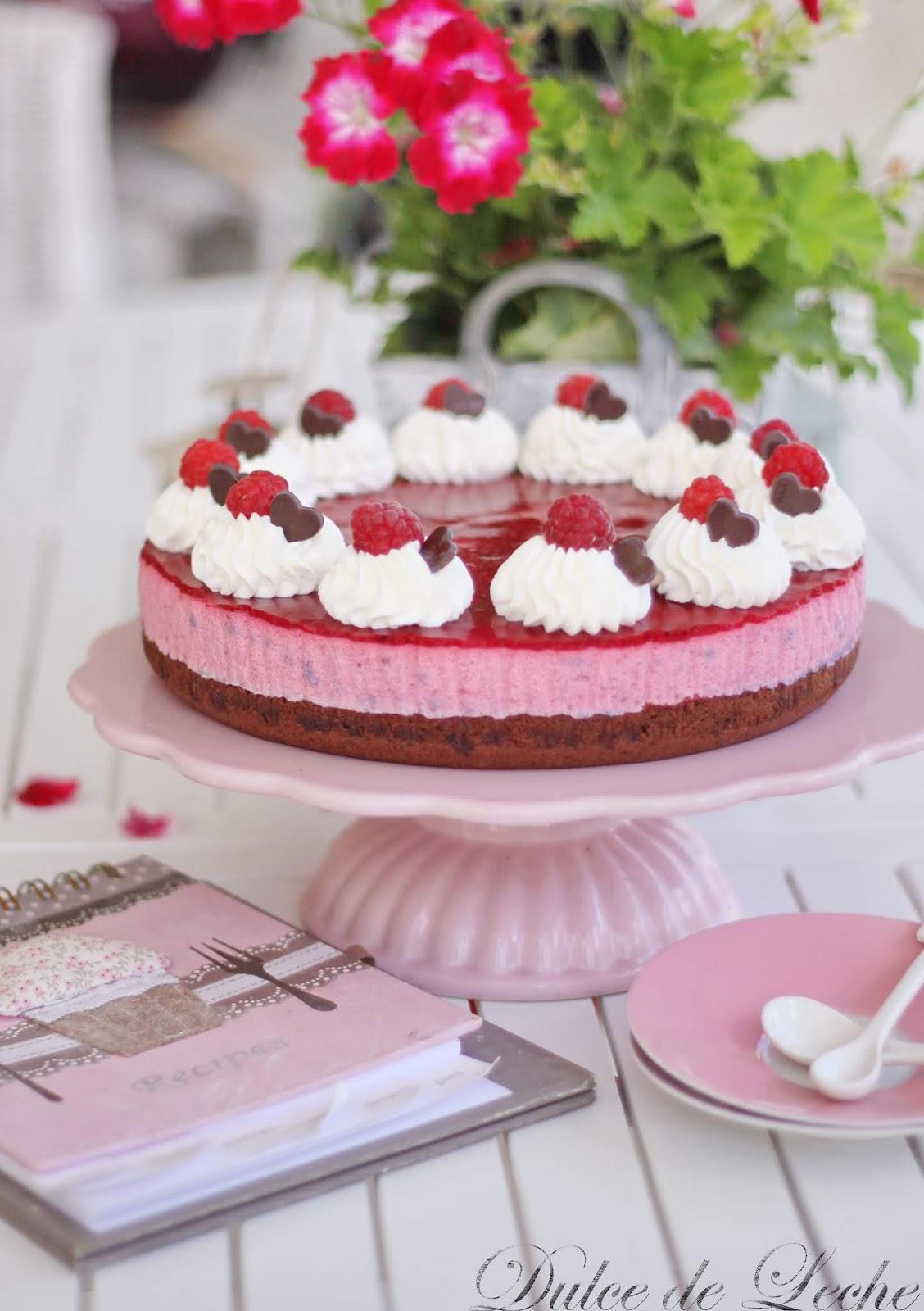 Malinovo tvarohová torta
