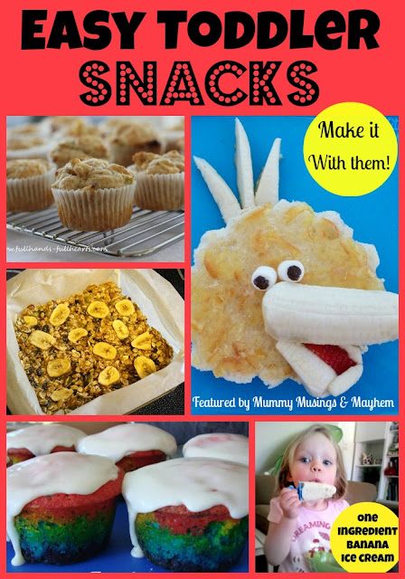 Fast, easy toddler snacks