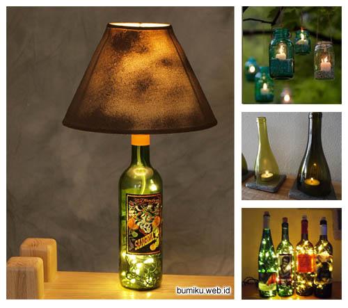 Cara Membuat Lampu Dari Botol Kaca