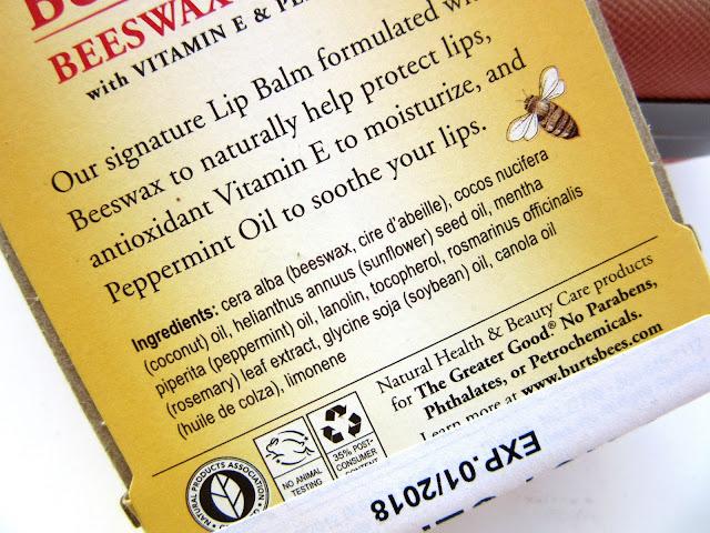 Burt's Bees Beewax Lip Balm Review, Price, Details