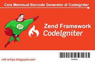 Cara Membuat Barcode Generator Zend Library di Codeigniter