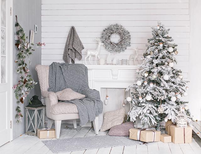 Decoración minimalista en Navidad