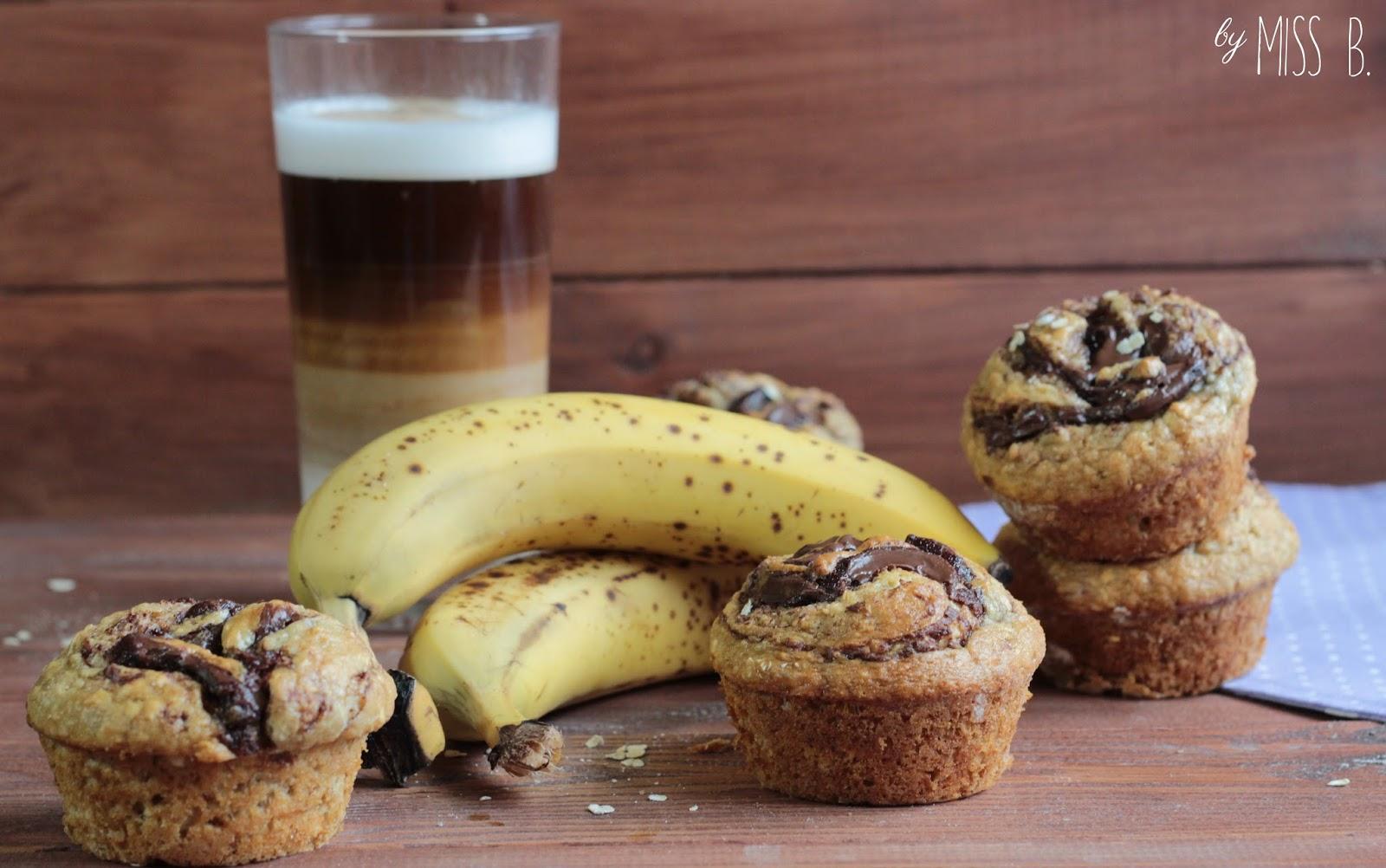 Frühstücksmuffins mit Nutella und Banane