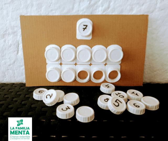 Actividad para peques: 3 manualidades ABN recicladas para aprender a contar