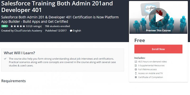 [100% Free] Salesforce Training Both Admin 201and Developer 401