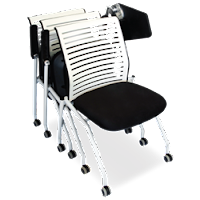 Tablet Arm Training Room Chairs That Can Be Stacked and Nested