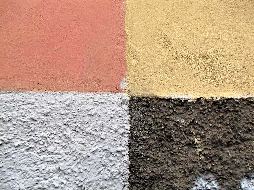 Livorno, four different colors on plain and rough plaster