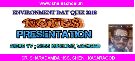 SRI SHARADAMBA HS SHENI: WORLD ENVIRONMENT DAY -QUIZ