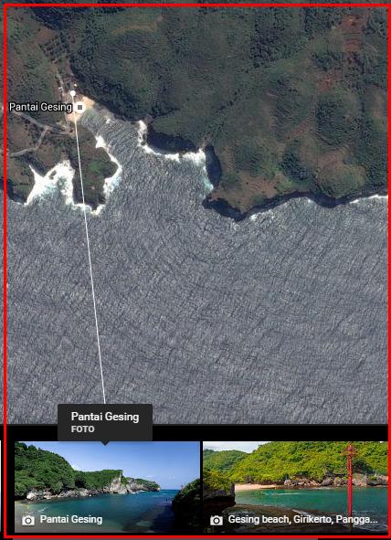 peta pantai gunung kidul